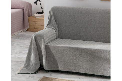 Přehoz Aitana šedý 180x260 cm šedá Přehozy