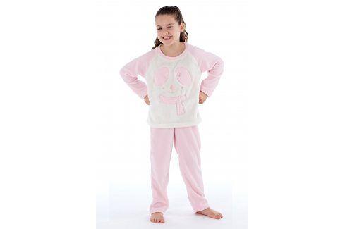 Dívčí hřejivé pyžamo Winter  růžovobílá Akce týdne