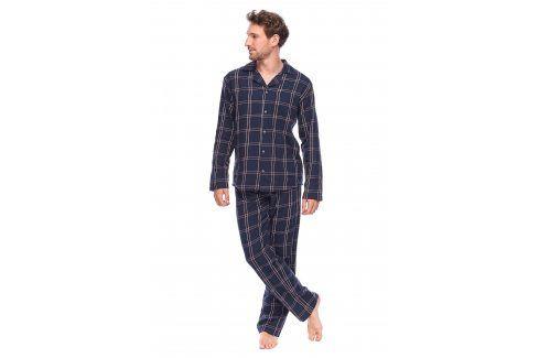 Pánské kabátkové pyžamo David  tmavěmodrá Pánská pyžama