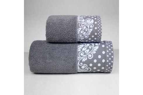 Ručník Melissa tmavě šedý 50x90 cm Ručník Bavlněné ručníky a osušky