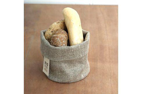 Košík na pečivo lněný S Výška: 12 cm, průměr: 15 cm béžová Ubrusy
