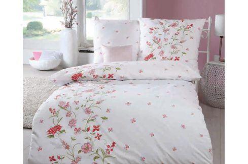 Krepové povlečení Viola růžové 140x200 jednolůžko - standard Krep Chalupářský styl