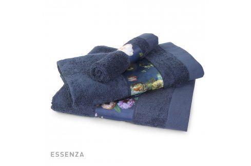 Ručník Essenza Home Fleur modrý 30x50 cm Ručník malý Osušky