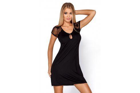 Elegantní košilka Hillary Black  černá Dámské noční košilky