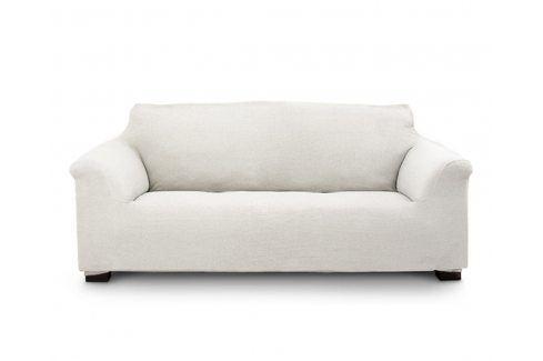 Potah na čtyřmístnou pohovku Elegant krémový 230-270 krémová Potahy na sedačky