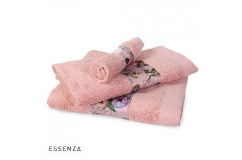 Ručník Essenza Home Fleur růžový 30x50 cm Ručník malý Osušky