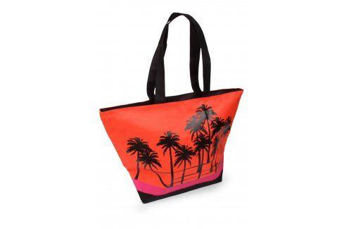 Plážová taška Acapulco Palm  červená Plážové doplňky