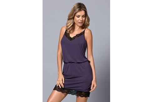 Dámská luxusní košilka Alina  fialová Luxusní košilky