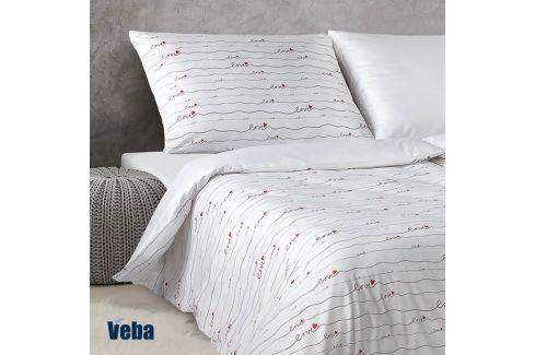 Damaškové povlečení Love 140x200 jednolůžko - standard bavlna Luxusní povlečení