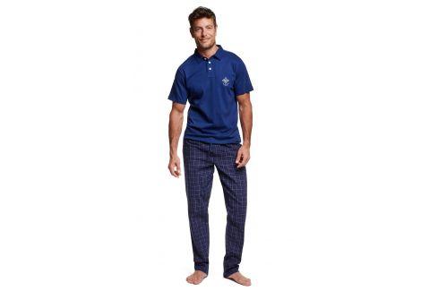 Pánské pyžamo s límečkem Vote  modrá Pánská pyžama