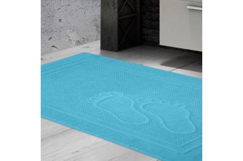 Koupelnová předložka Feet aqua 50x70 cm bavlna Předložky