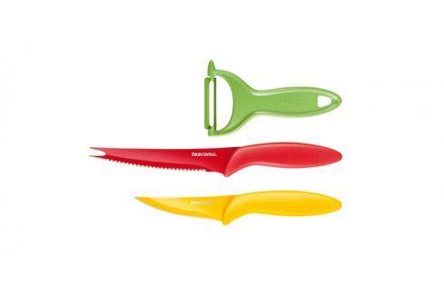 TESCOMA antiadhezní nože a škrabka PRESTO TONE, sada 3 ks Nože