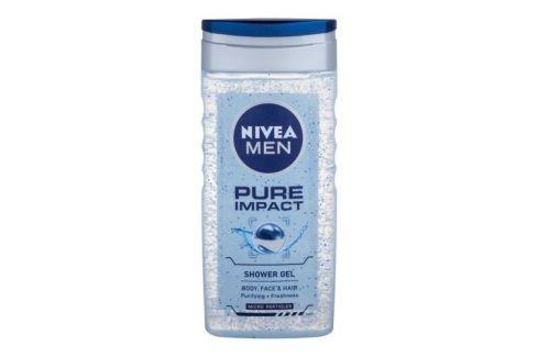 Nivea Men Pure Impact 250 ml sprchový gel na tělo a vlasy pro muže Sprchové gely