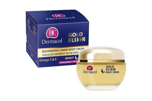 Dermacol Gold Elixir 50 ml regenerační noční krém proti vráskám pro ženy Noční pleťové krémy