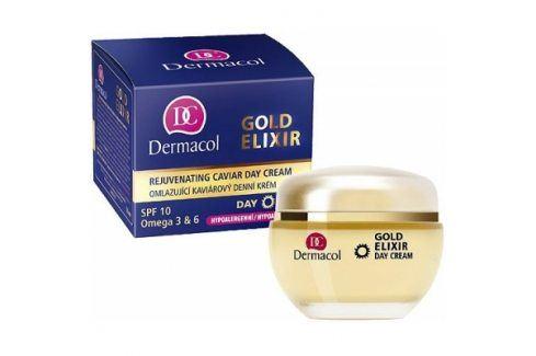 Dermacol Gold Elixir 50 ml omlazující pleťový krém pro ženy Denní pleťové krémy