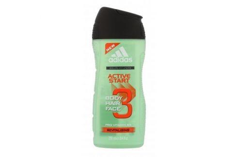 Adidas Active Start 3in1 250 ml sprchový gel pro muže Sprchové gely