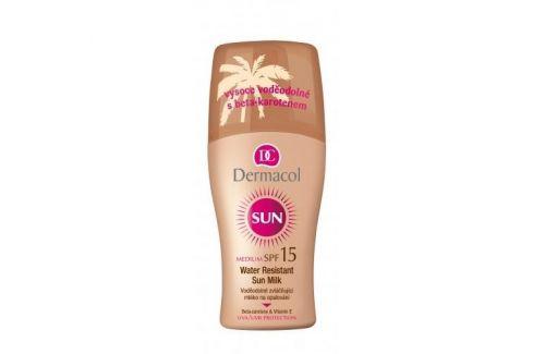 Dermacol Sun Milk Spray SPF15 200 ml voděodolné mléko na opalování ve spreji pro ženy Opalovací přípravky na tělo