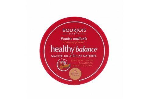 BOURJOIS Paris Healthy Balance 9 g pudr pro ženy 55 Dark Beige Pudry