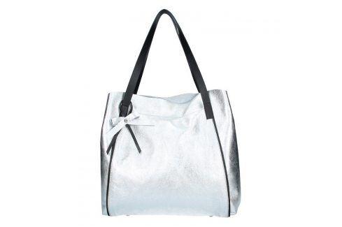 Dámská kožená kabelka Facebag Helena - stříbrná Kabelky a aktovky