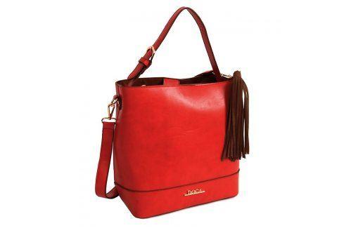 Dámská kabelka Doca 13376 - červená Kabelky a aktovky