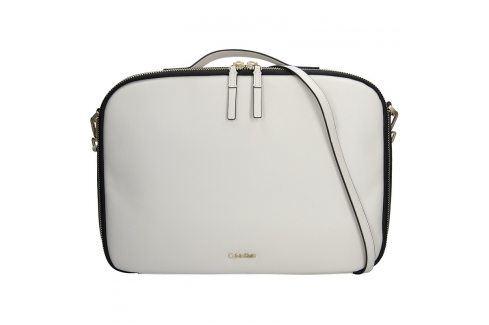 Dámská taška na notebook Calvin Klein Aurora - krémová Kabelky a aktovky