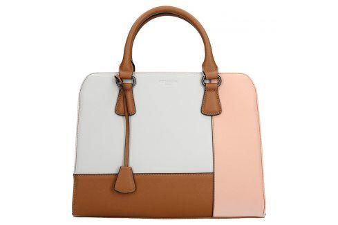 Dámská kabelka Hexagona 505235 - bílo-růžová Kabelky a aktovky