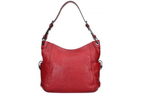 Dámská kožená kabelka Hexagona Elena - červená Kabelky a aktovky