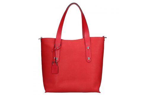 Dámská kožená kabelka Facebag Nina - červená Kabelky