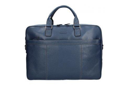 Pánská kožená taška přes rameno Katana Simons - modrá Tašky a aktovky