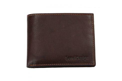 Pánská kožená peněženka SendiDesign 6001 (P) VT - hnědá Peněženky