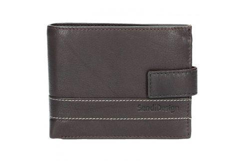 Pánská kožená peněženka SendiDesign 43 - hnědá Peněženky