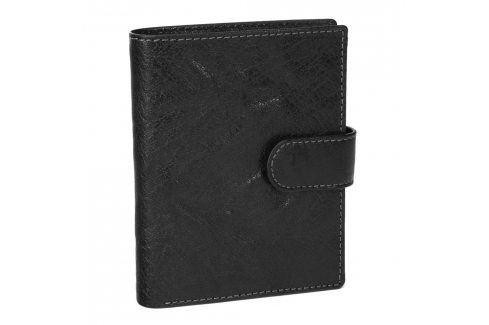 Pánská kožená peněženka SendiDesign 1047L - černá Peněženky