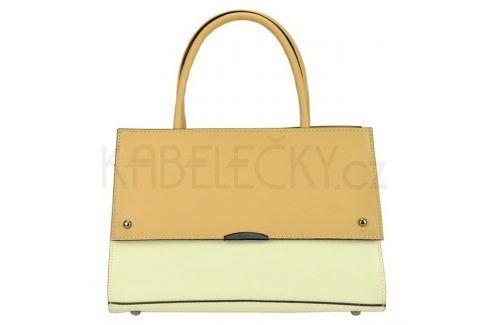 Dámská kožená kabelka Vera Pelle Angela - béžovo-krémová Kabelky