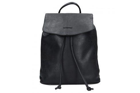 Moderní dámský batoh Piace Molto Adriana - černá Batohy