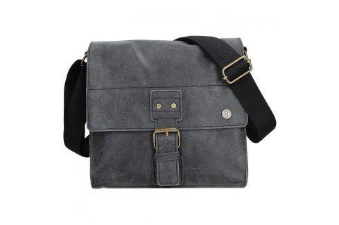 Pánská kožená taška 2JUS Land 3 - černá Tašky a aktovky
