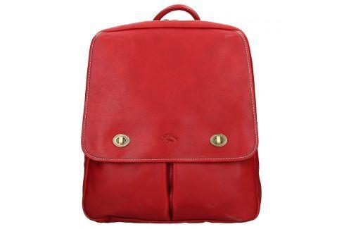 Elegantní dámský kožený batoh Katana Petra - červená Batohy