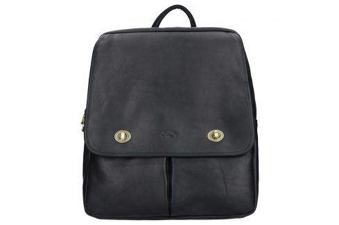 Elegantní dámský kožený batoh Katana Petra - černá Batohy