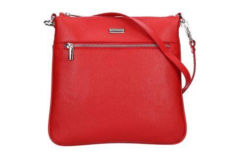 Dámská kožená crossbody kabelka Facebag Paula - červená Kabelky