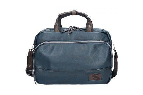 Pánská taška přes rameno Bugatti Moto DW - modrá Tašky a aktovky