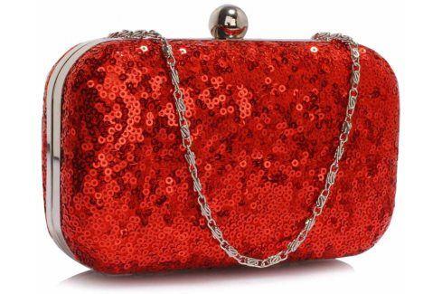 Dámské psaníčko LS Fashion Gloss - červená Kabelky