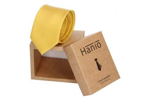Pánská kravata Hanio Sebastian - žlutá Kravaty a motýlky