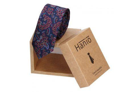 Pánská kravata Hanio Logan - modrá Kravaty a motýlky