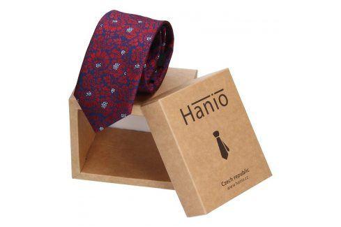 Pánská kravata Hanio Liam - modro - červená Kravaty a motýlky