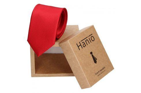 Pánská hedvábná kravata Hanio Oliver - červená Kravaty a motýlky