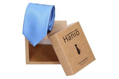 Pánská hedvábná kravata Hanio James - modrá Kravaty a motýlky
