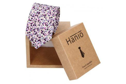 Pánská kravata Hanio John - fialová Kravaty a motýlky