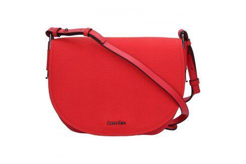 Dámská crossbody kabelka Calvin Klein Arch Large Saddle - červená Kabelky