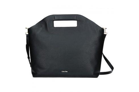 Kožená Dámská kabelka Calvin Klein Grand Sac Tote - černá Tašky a aktovky