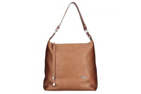 Dámská kožená kabelka Facebag Fionna glassy - hnědá Kabelky