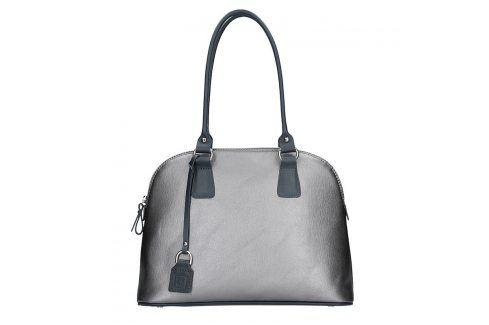 Dámská kožená kabelka Facebag Antonela - stříbrná Kabelky